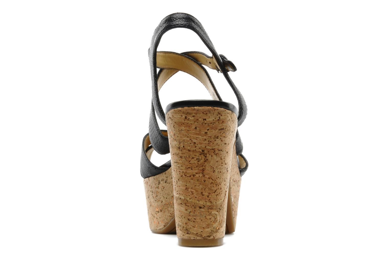 Sandales et nu-pieds Nine West Guessagain Noir vue droite