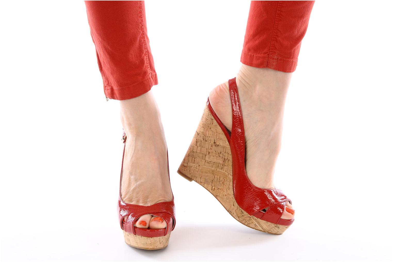 Sandales et nu-pieds Nine West Laffnplay 3 Rouge vue bas / vue portée sac
