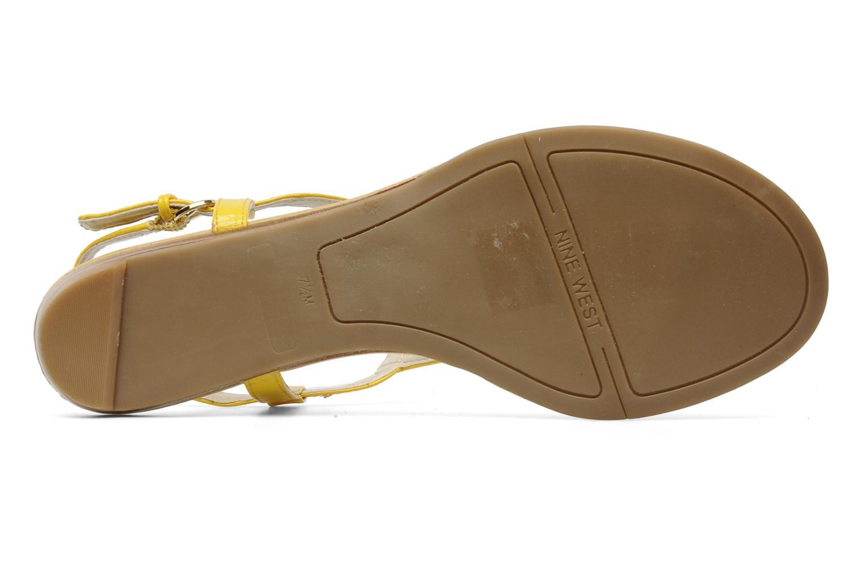 Sandales et nu-pieds Nine West Weightless 3 Jaune vue haut