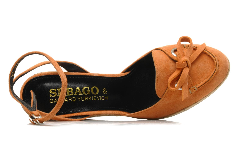 Sandales et nu-pieds Sebago & Gaspard Yurkievich Ydriss Orange vue gauche