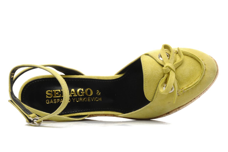 Sandales et nu-pieds Sebago & Gaspard Yurkievich Ydriss Jaune vue gauche