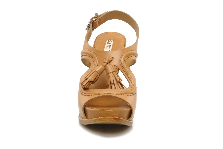 Sandales et nu-pieds Sartore Sariel Beige vue portées chaussures