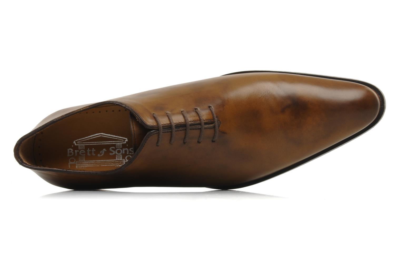 Chaussures à lacets Brett & Sons Lou Marron vue gauche