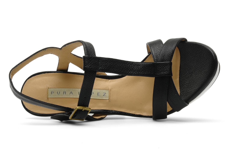 Sandales et nu-pieds Pura Lopez Storia Noir vue gauche