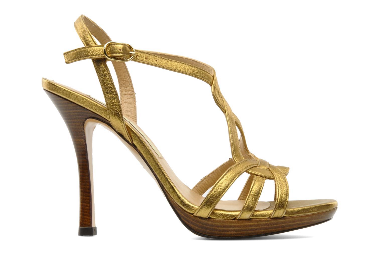 Sandalias Pura Lopez Souna Oro y bronce vistra trasera