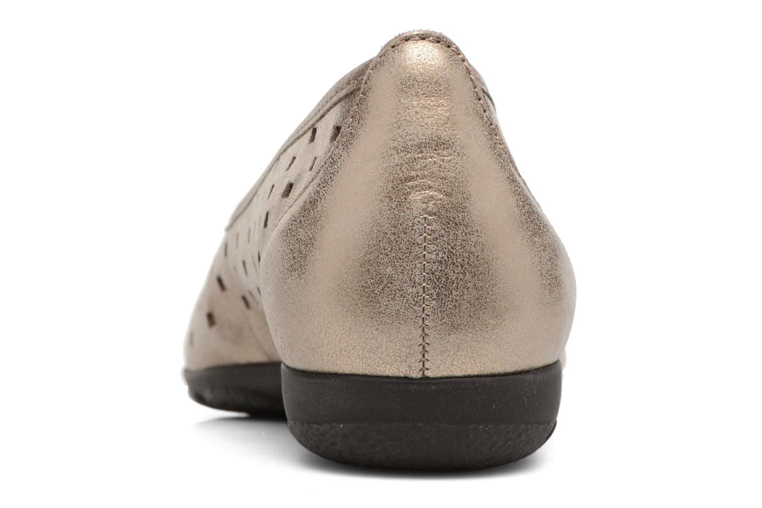 Ballet pumps Gabor Stéphanie Bronze and Gold view from the right