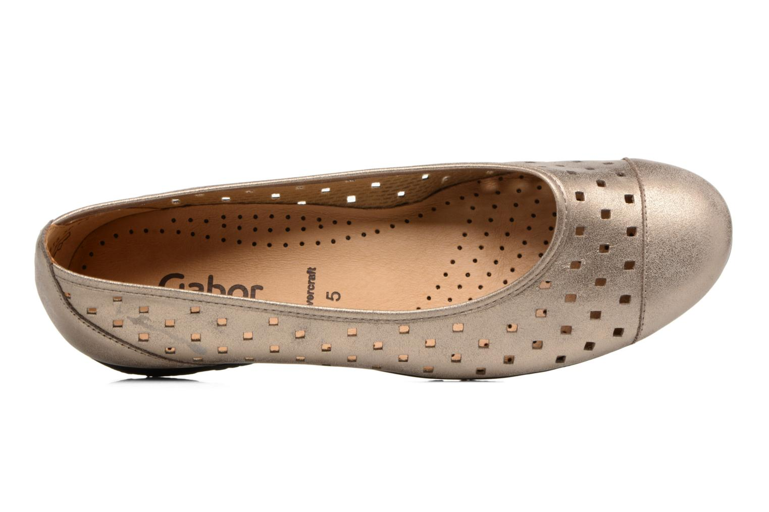 Ballet pumps Gabor Stéphanie Bronze and Gold view from the left