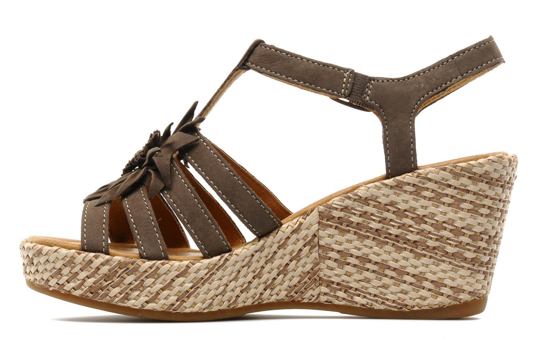 Sandales et nu-pieds Gabor Diana Marron vue face