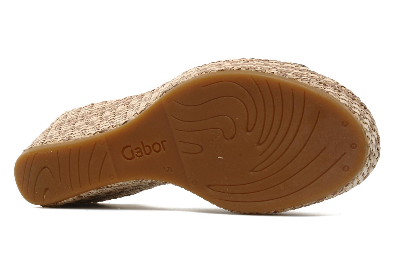 Sandales et nu-pieds Gabor Diana Marron vue haut