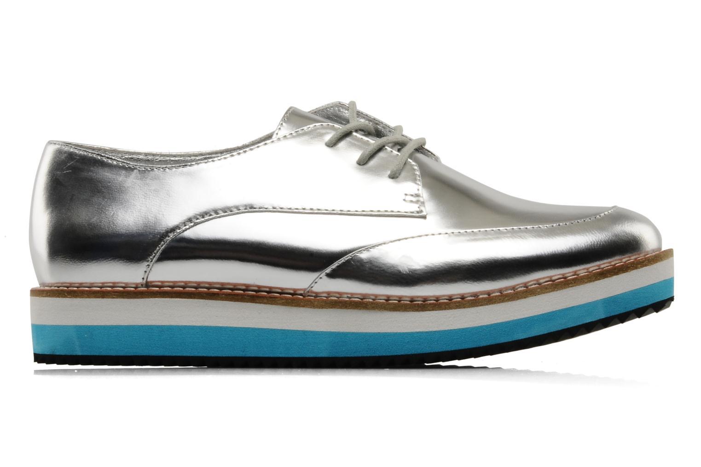Zapatos con cordones Buffalo Disco Plateado vistra trasera