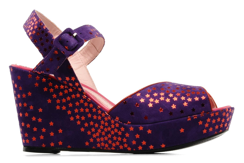 Sandals Annabel Winship Jodie Purple back view