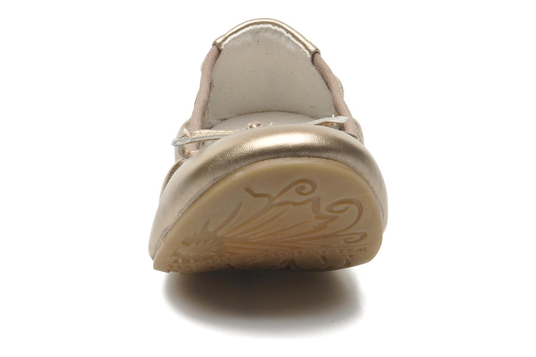 Ballerines Primigi Veridiana Or et bronze vue portées chaussures
