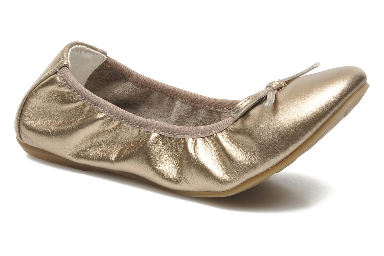 Ballerines Primigi Veridiana Or et bronze vue détail/paire