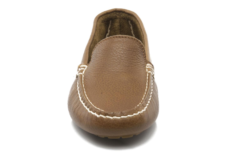 Mocassins Aigle Longlake W Marron vue portées chaussures
