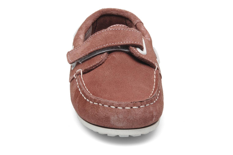 Chaussures à scratch Aigle Longlake Kid Bordeaux vue portées chaussures