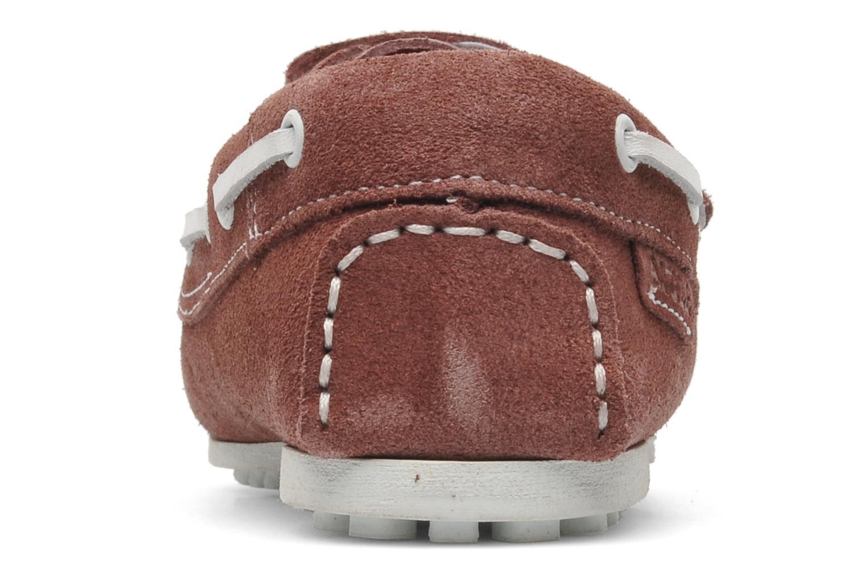 Chaussures à scratch Aigle Longlake Kid Bordeaux vue droite