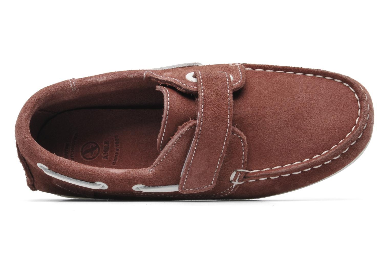 Chaussures à scratch Aigle Longlake Kid Bordeaux vue gauche
