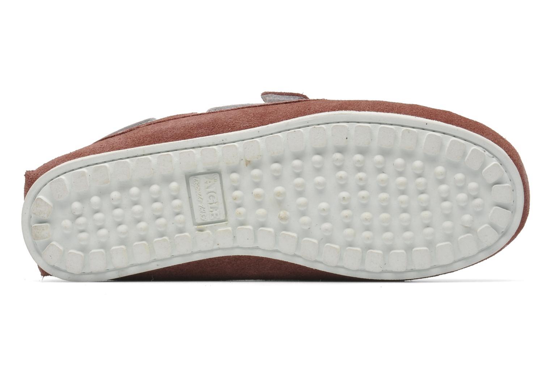 Chaussures à scratch Aigle Longlake Kid Bordeaux vue haut