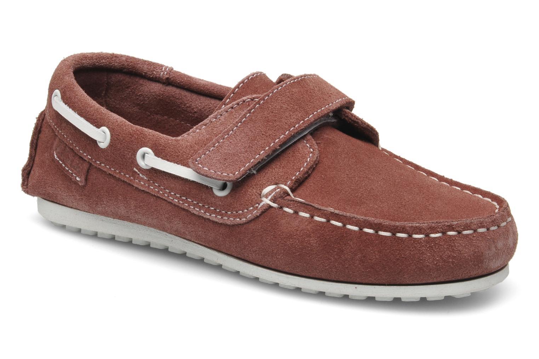 Chaussures à scratch Aigle Longlake Kid Bordeaux vue détail/paire