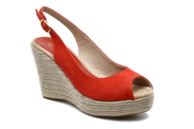 Sandals Unisa Merin ks Red detailed view/ Pair view