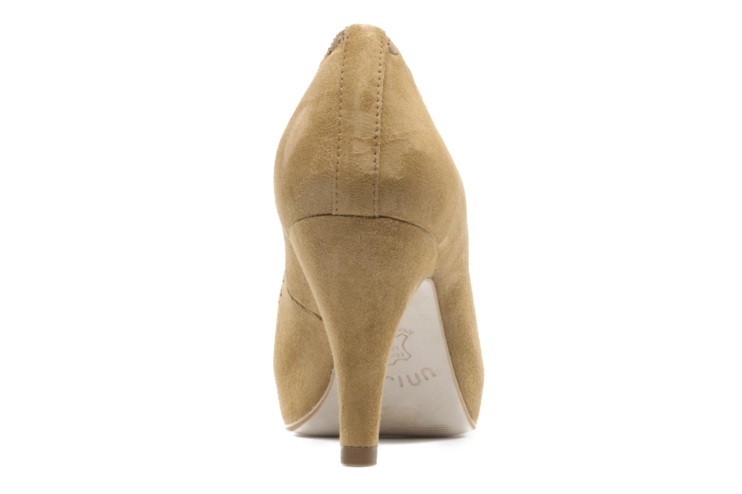 High heels Unisa Unelo ks Beige view from the right