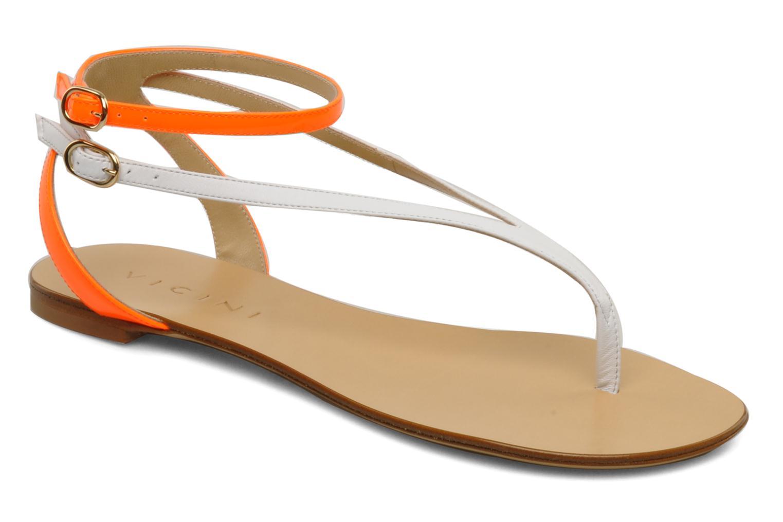 Sandales et nu-pieds Vicini Victorinne Blanc vue détail/paire