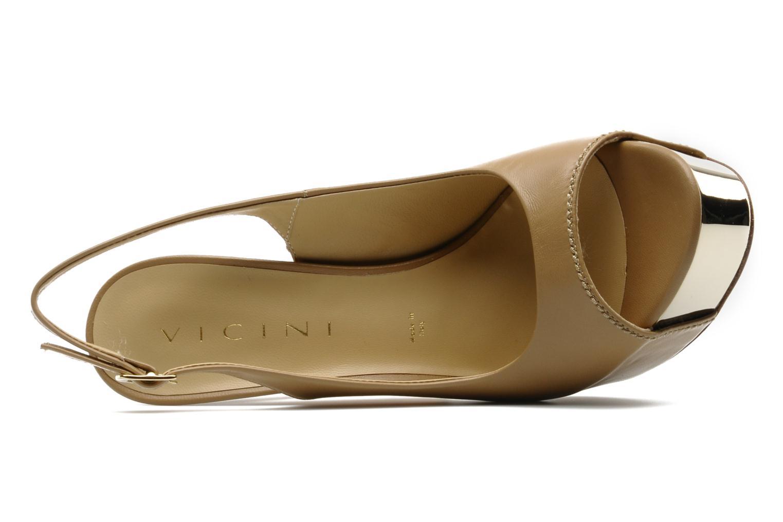 Sandales et nu-pieds Vicini Vinciane Marron vue gauche
