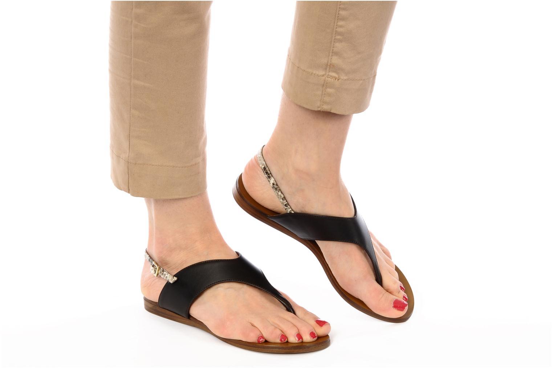 Sandales et nu-pieds Tapeet Tefle Marron vue bas / vue portée sac