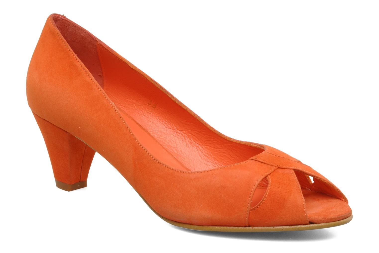 High heels Georgia Rose Magui Orange detailed view/ Pair view