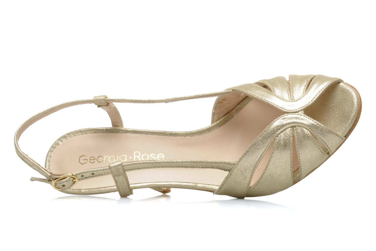 Sandals Georgia Rose Maraki Bronze and Gold view from the left