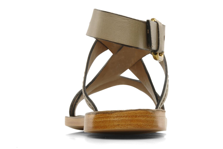 Sandales et nu-pieds Pour La Victoire Mariza Gris vue droite