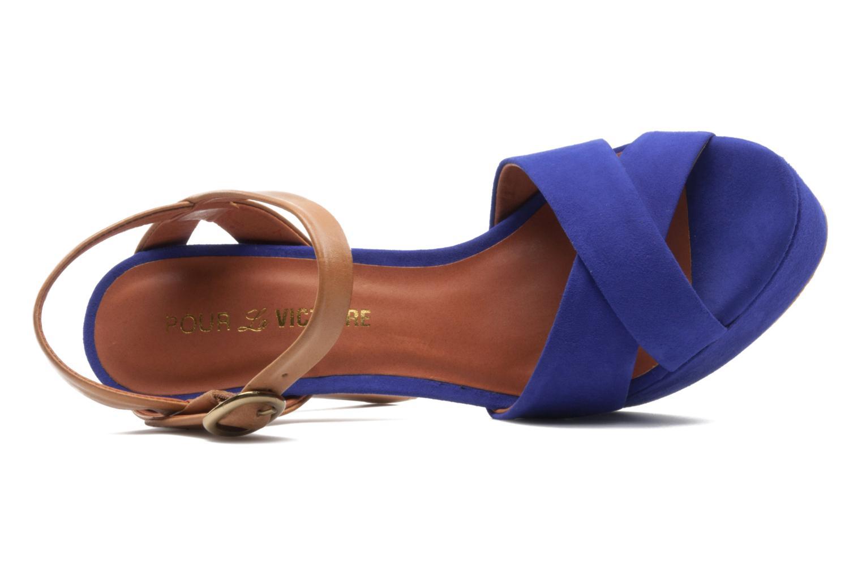 Sandales et nu-pieds Pour La Victoire Neysa Bleu vue gauche