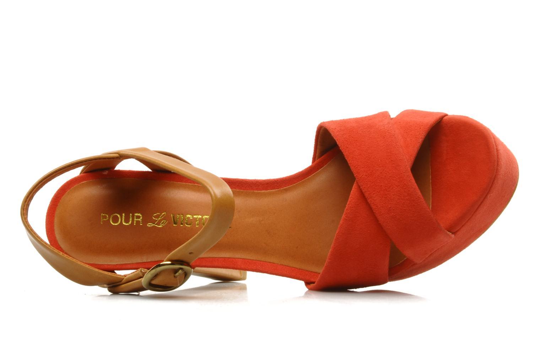 Sandales et nu-pieds Pour La Victoire Neysa Rouge vue gauche