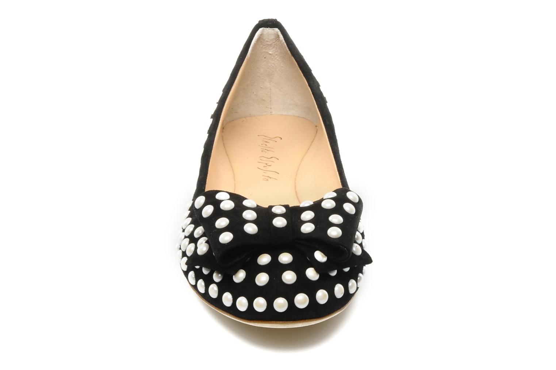 Ballerines Ernesto Esposito Evie Noir vue portées chaussures