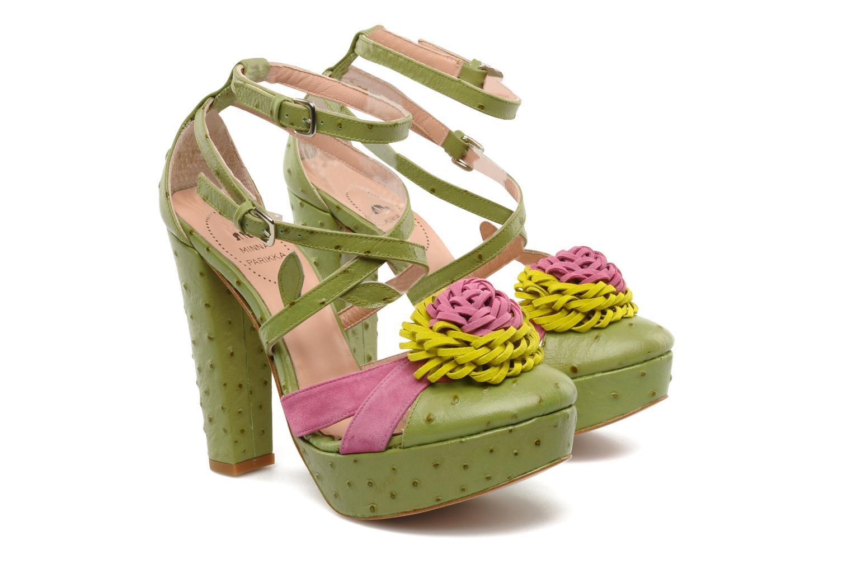Sandales et nu-pieds Minna Parikka POMPOM SANDAL Vert vue 3/4