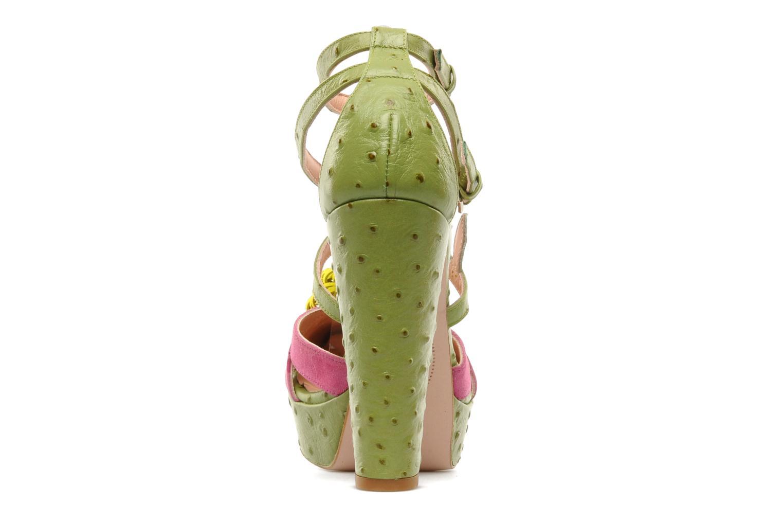 Sandales et nu-pieds Minna Parikka POMPOM SANDAL Vert vue droite