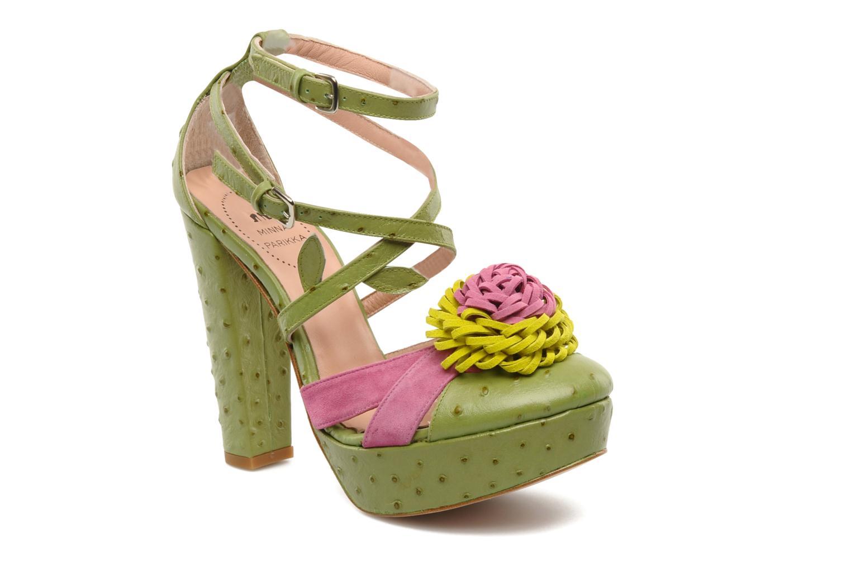 Sandales et nu-pieds Minna Parikka POMPOM SANDAL Vert vue détail/paire