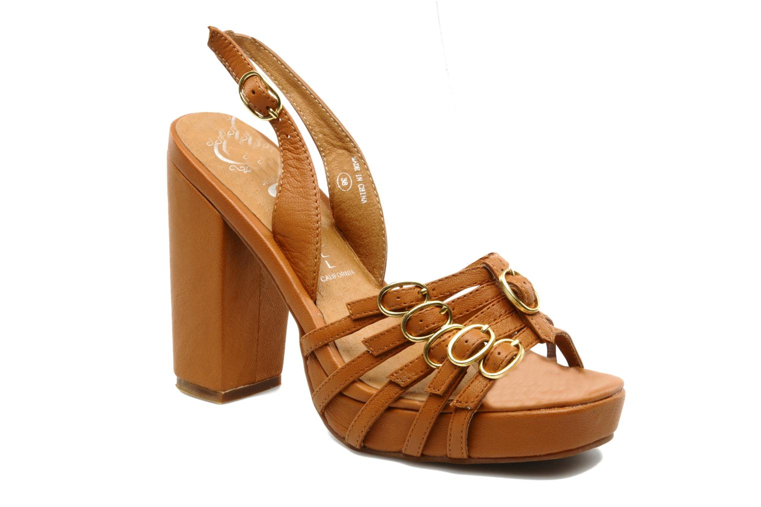 Sandals Jeffrey Campbell Fun Brown detailed view/ Pair view