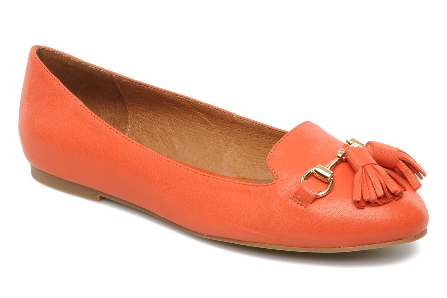 Loafers Jeffrey Campbell Mollie Orange detailed view/ Pair view