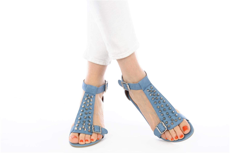Sandales et nu-pieds Jeffrey Campbell Barbary Spike Bleu vue bas / vue portée sac