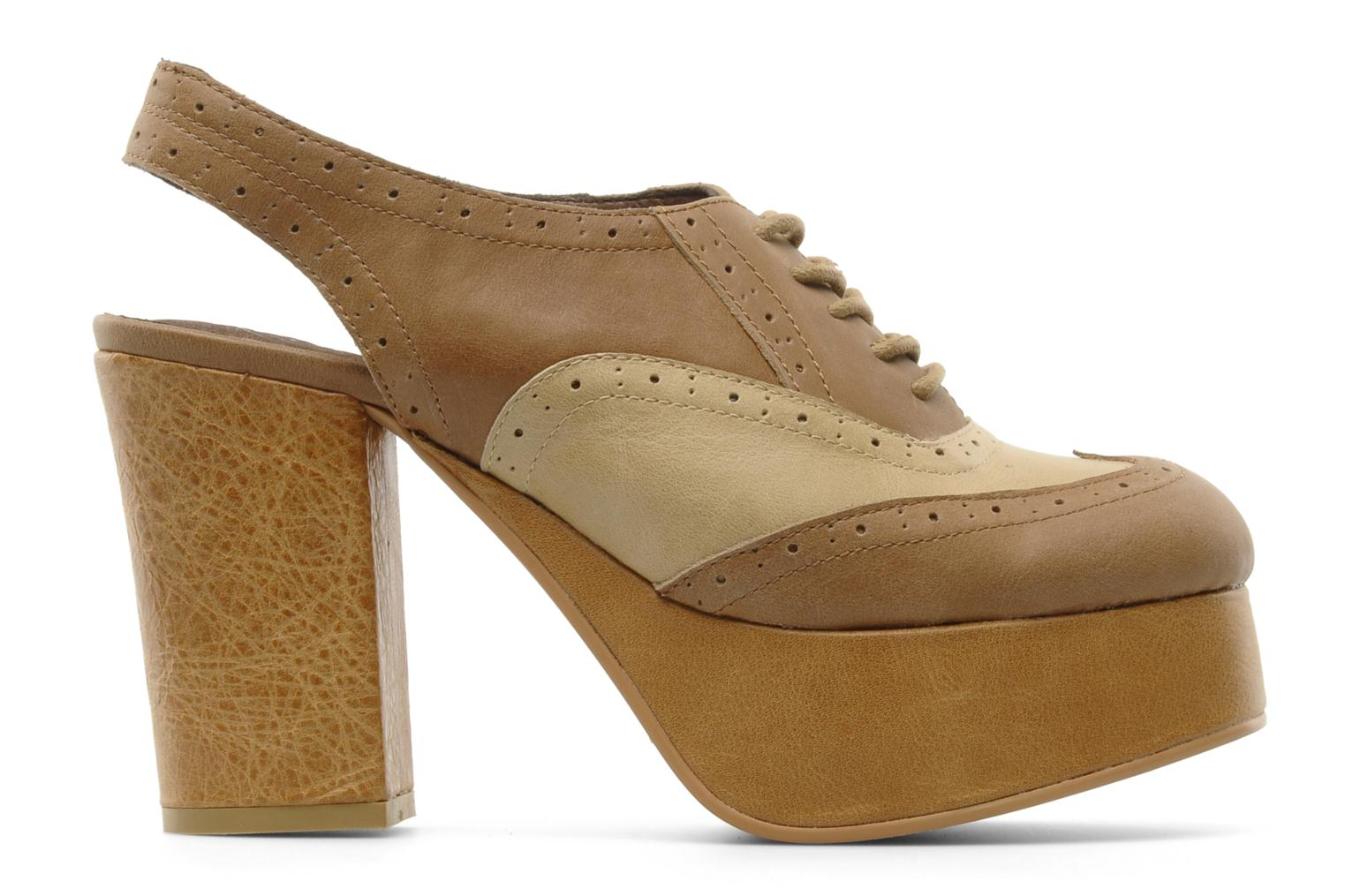 Lace-up shoes Jeffrey Campbell Ditto Beige back view