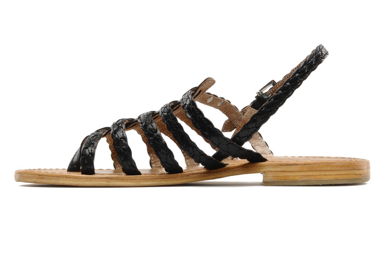 Sandales et nu-pieds Les Tropéziennes par M Belarbi Heritres Noir vue face