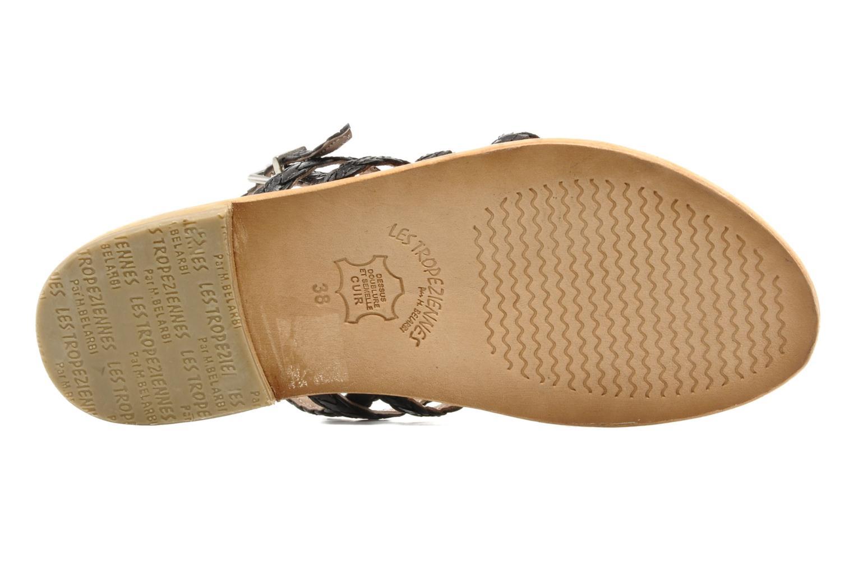 Sandales et nu-pieds Les Tropéziennes par M Belarbi Heritres Noir vue haut