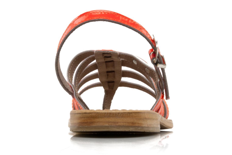Sandales et nu-pieds Les Tropéziennes par M Belarbi Herflash Orange vue droite
