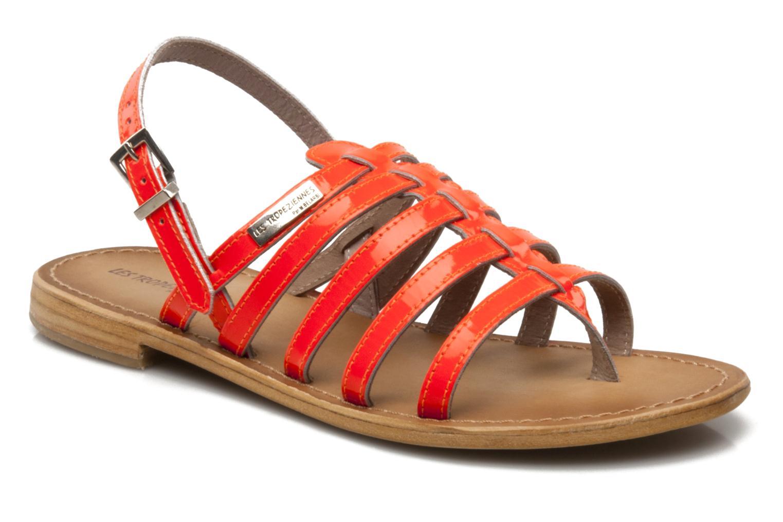 Sandales et nu-pieds Les Tropéziennes par M Belarbi Herflash Orange vue détail/paire