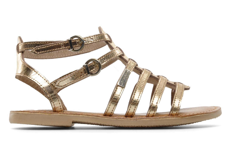 Sandales et nu-pieds Les Tropéziennes par M Belarbi Hic E Or et bronze vue derrière