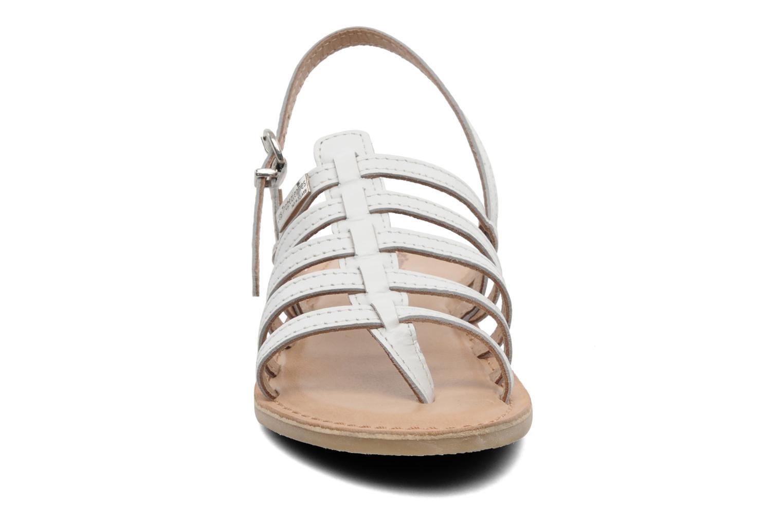 Sandales et nu-pieds Les Tropéziennes par M Belarbi Herisson E Blanc vue portées chaussures