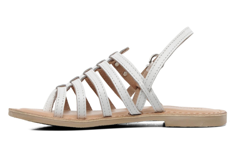 Sandales et nu-pieds Les Tropéziennes par M Belarbi Herisson E Blanc vue face