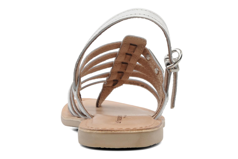 Sandales et nu-pieds Les Tropéziennes par M Belarbi Herisson E Blanc vue droite