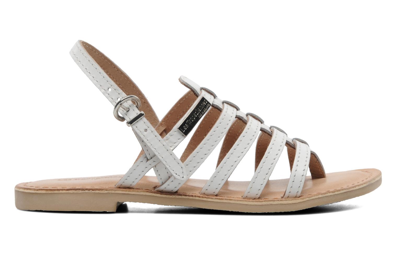 Sandales et nu-pieds Les Tropéziennes par M Belarbi Herisson E Blanc vue derrière